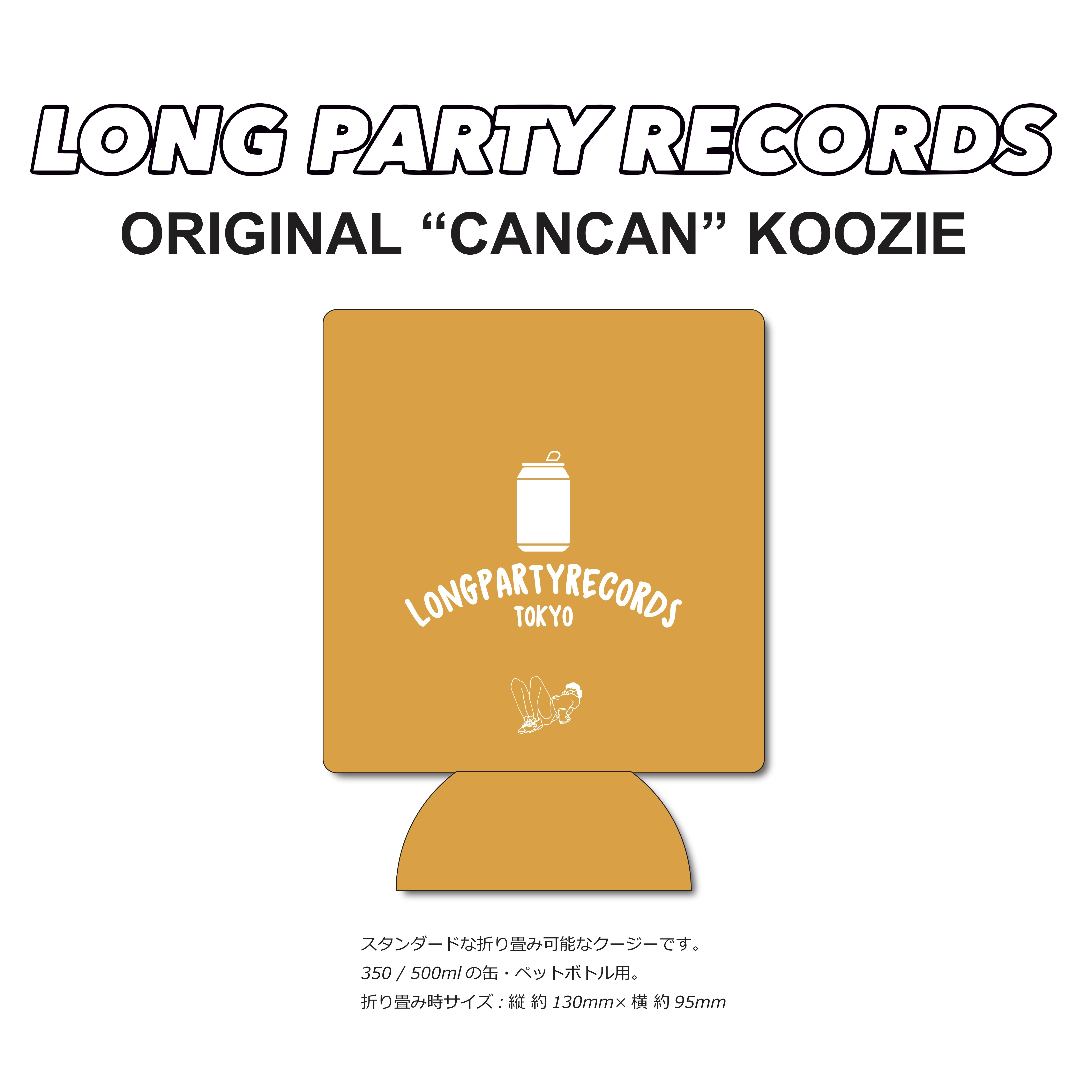 "LONG PARTY RECORDS ""CANCAN"" KOOZIE"