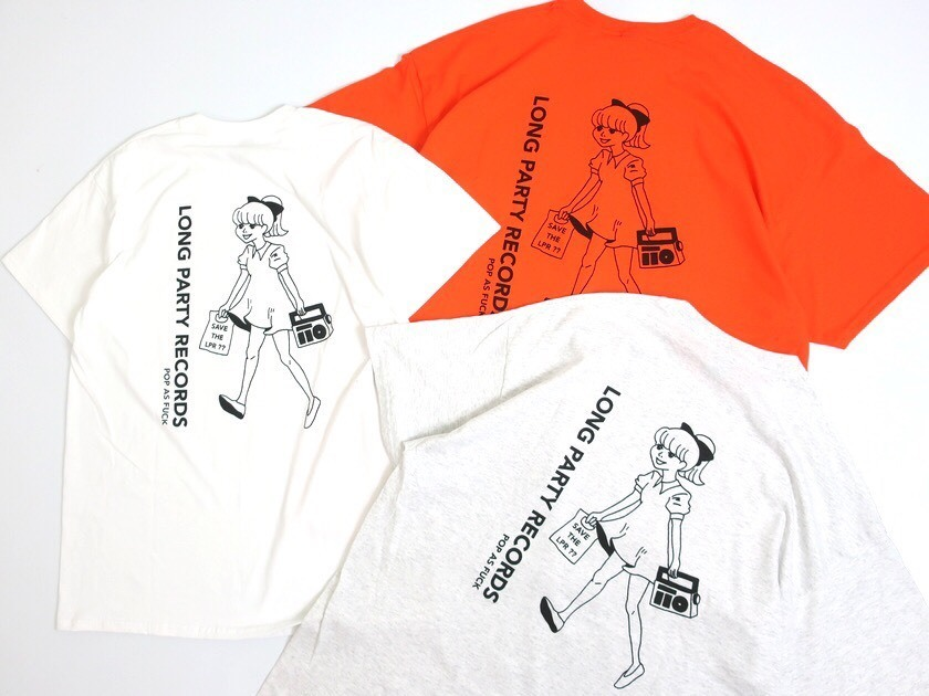 【#SAVETHELPR】POP AS FUCK x LONG PARTY RECORDS COLLABORATION T-SHIRT